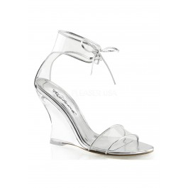4 Inch Closed Back Ankle Strap Wedge Sandal