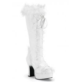 Women's 4 Inch Heel. Microfiber With Faux Fur