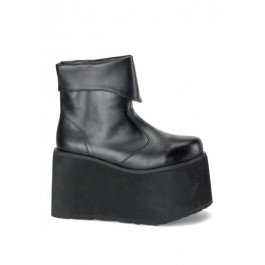 Mens Platform Inner Zipper Ankle Boot, 5 Inch