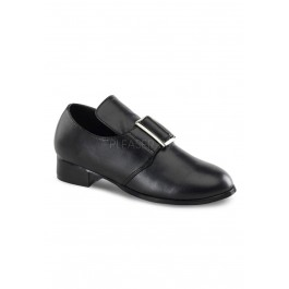 Children's 1 Inch Heel, Slip On Loafer Featuring Large Buckle