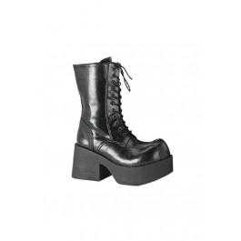 3 1/2 Inch Eyelet Platform Calf Boot