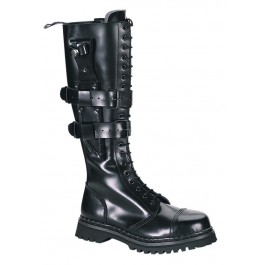 Men's/Unisex 20 Eyelet Knife Holder Strap Steel Toe Knee Boot