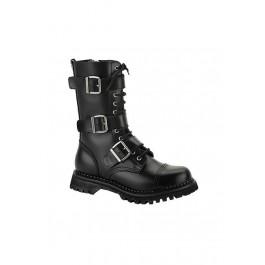 Men'S 12 Eyelet 3 Strap Steel Toe Calf Boot