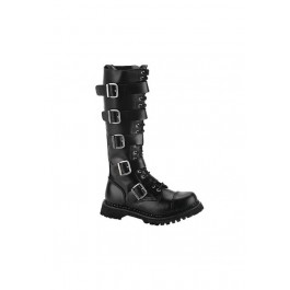 Men'S 20 Eyelet 5 Strap Steel Toe Knee Boot