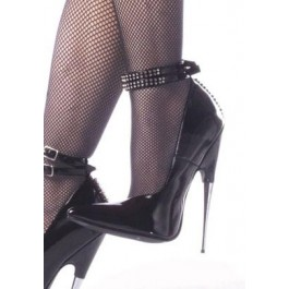 6 Inch Spike Steel Heel Pump With Ankle Strap