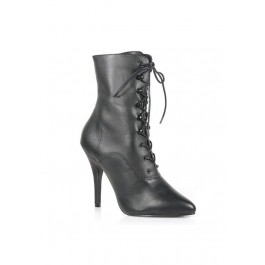 5 Inch Lace-Up Ankle Boot, With Side Zip