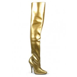 5 Inch Classic Plain Thigh Boot