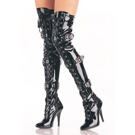 5 Inch Ribbon Stretch Thigh Boot With Grommet