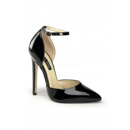 Devious 5 1/4 Inch Stiletto Heel D'Orsay Pump With Ankle Strap