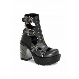 Women's 3 1/2 Inch Chromed ABSl Heel, 1 1/2 Inch Moulded Pu Platform Shoe