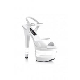 6 3/4 Inch Stiletto Heel Ankle Strap Lined Platform Sandal