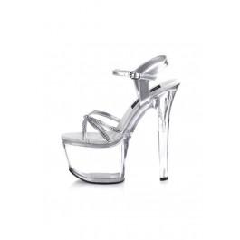 6 3/4 Inch Stiletto Heel Knotted Ankle Strap Platform Sandal