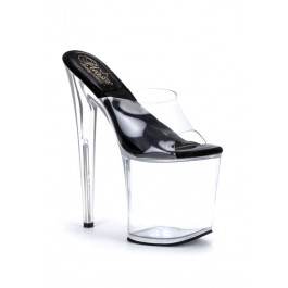 Women's 8 Inch Heel No Slip Platform Slide With 'O' Shaped Heel