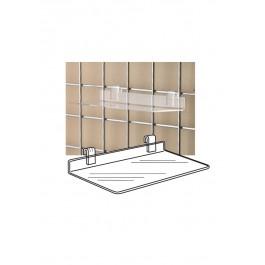 Clear Acrylic Gridwall Shelf Shoe Shelves