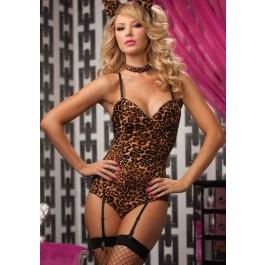 Leopard Garter 4 Piece Teddy