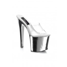 Pleaser TABOO-701, 7 1/2 Inch Stiletto Heel Platform Slide