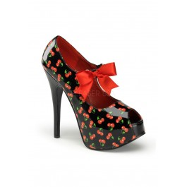 Pinup Couture TEEZE-25-3, 5 3/4 Inch Heel Open Toe Mary Jane Pump