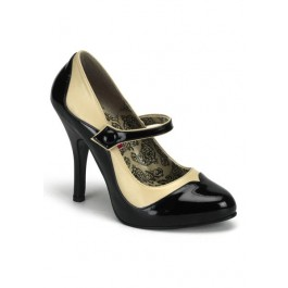 Bordello TEMPT-07, 4 1/2 Inch Heel Two Tone Mary Jane Pump