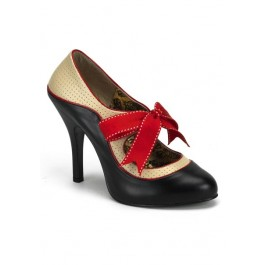 Bordello TEMPT-02, 4 1/2 Inch Heel Two-Tone Pump