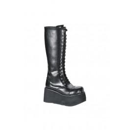 Men'S 3 1/4 Inch Platform 17 Eyelet Knee Boot