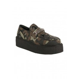 Men'S 2 Inch Platform Chained Vegetarian Creeper Shoe