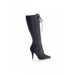 Women's 4 Inch Heel Knee Boot With Elasticated Panel