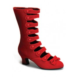 Women's 2 1/2 Inch Heel 8 Strap Velvet Calf Boot