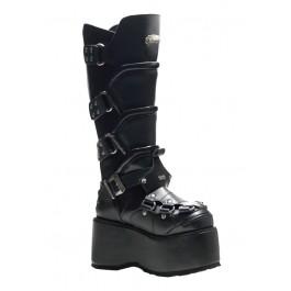 Men'S 3 1/2 Inch Buckled Platform Boot