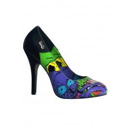 Women's 4 1/2 Inch Heel Pump With Demonia Reaper Print