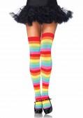 Rainbow Thigh Highs