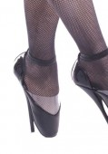 7 Inch Heel Ballet Point Women'S Size Shoe With Ankle Strap