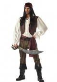 Men'S Rogue Pirate Party Costume