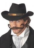 The Gunslinger Mustache Holiday Party Costume Accessory