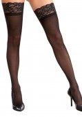 Plus Size Sheer Thigh High With Lace Top
