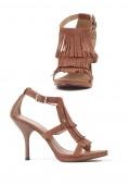 4 Inch Sandal Women'S Size Shoe With Fringe