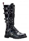 Men'S 6 Buckle Combat Knee Boot With Inner Side Zipper