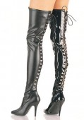 5 Inch Open Back D-Ring Stretch Thigh Boot