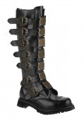 Men'S 30 Eyelet Steel Toe Knee Boot With Steel Plates And Gear Buckles