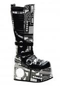 Men'S 4 1/2 Inch Platform Knee Boot With Built-In Light Mechanism