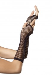 Triangle Net Fingerless Gloves