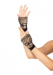 Spider Net Fingerless Gloves Costume