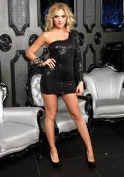 Sequin Asymmetrical Long Sleeve Mini Club Dress