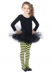 Childrens Tulle Tutu With Mesh Flocked Polka Dots