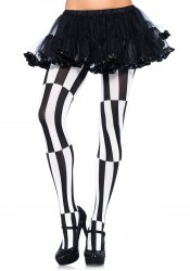 Woven Opaque Striped Optical Illusion Pantyhose