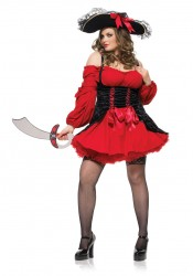 Plus Size Vixen Pirate Wench Costume