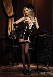 Ruffle Trimmed Glamor Garter Dress