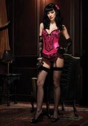 Satin Underwire Burlesque Garter Dress