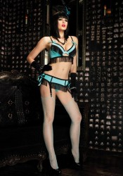 3Pc Burlesque Shimmy Set