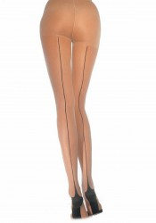 Lycra Sheer Pantyhose With Cuban Heel Backseam