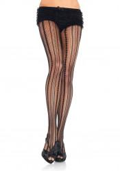 Vintage Pinstripe Net Pantyhose